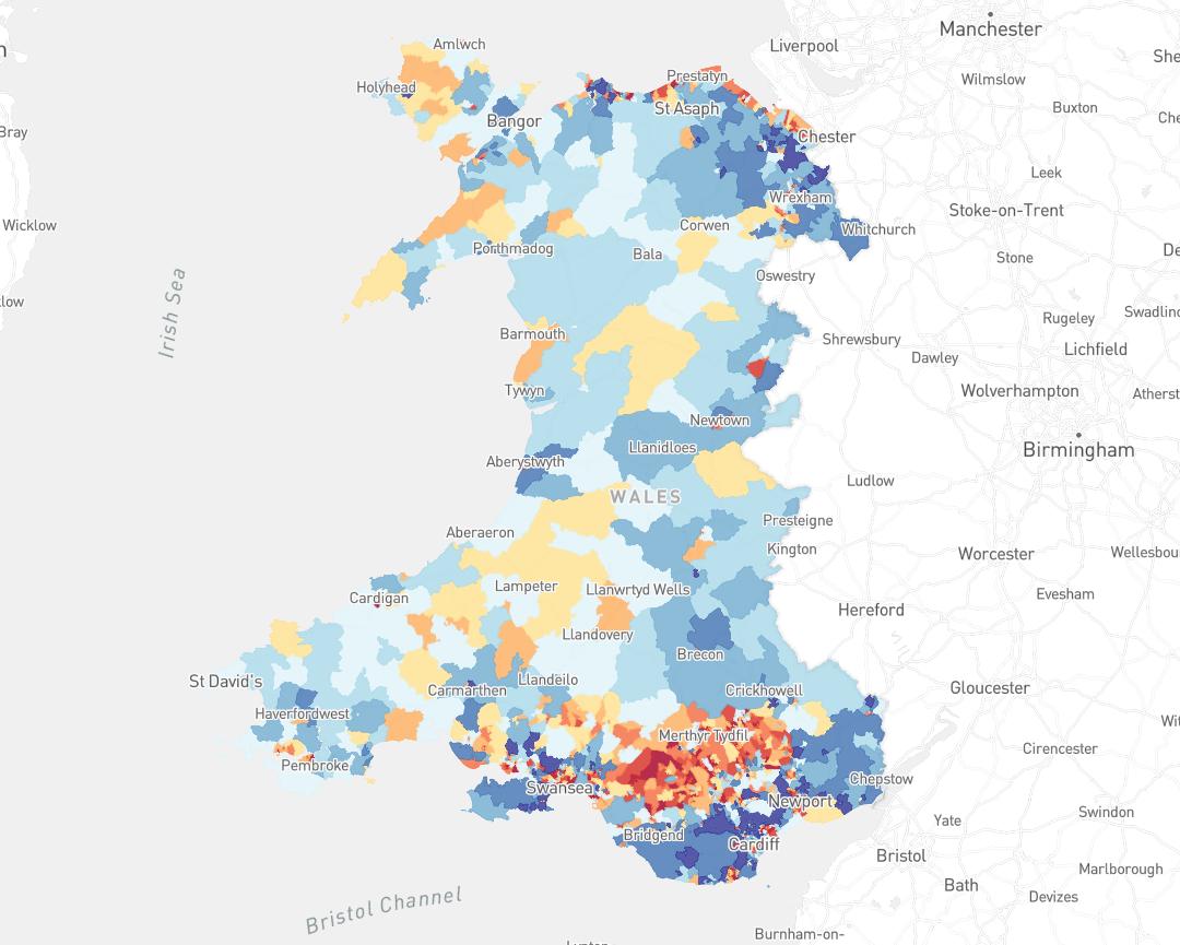 Welsh Index of Multiple Deprivation (WIMD) 2014